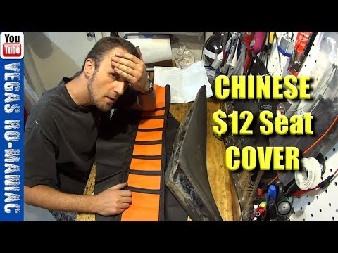 👀Chinese $12 KTM Seat Cover - Is It Any Good? How To Install Dirt Bike Seat Cover With No Wrinkles