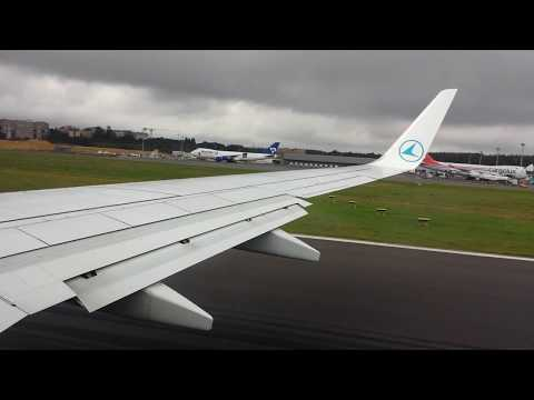 Luxair Boeing 737-700 Takeoff Luxembourg