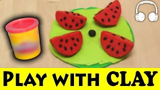 PLAY DOH - WITH CLAY FRIENDS | Family Sing Along - Muffin Songs | пластилин
