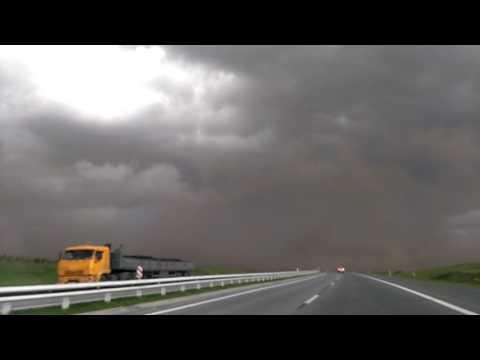 Ветер на трассе Ленинск-Кузнецк - Кемерово 01.06.17.