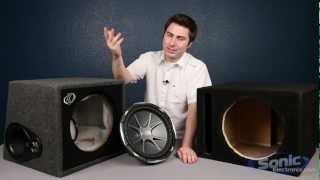 Comparing Subwoofer Boxes: Manufacturer & Prefab Enclosures
