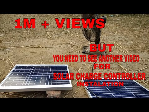 Solar panel installation #inverter # battery connection #step by step