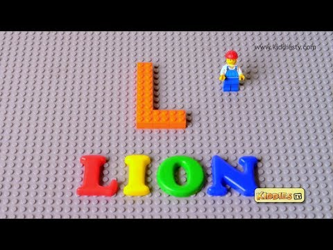 LEGO Alphabet  A to Z | stop motion | lego movie | brick builder | abc | kids | alphabet | kiddiestv