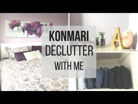 EXTREME KONMARI DECLUTTER WITH ME | BEDROOM BEFORE AND AFTER
