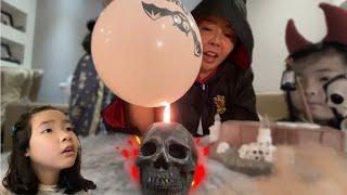 유령풍선? 절대 터지지않는 마법풍선~ 저주에 걸린 풍선의 비밀?  마녀의 풍선 Ghost magic balloon l witch's balloon
