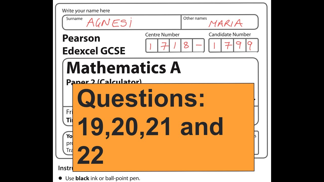 edexcel mathematics papers gcse