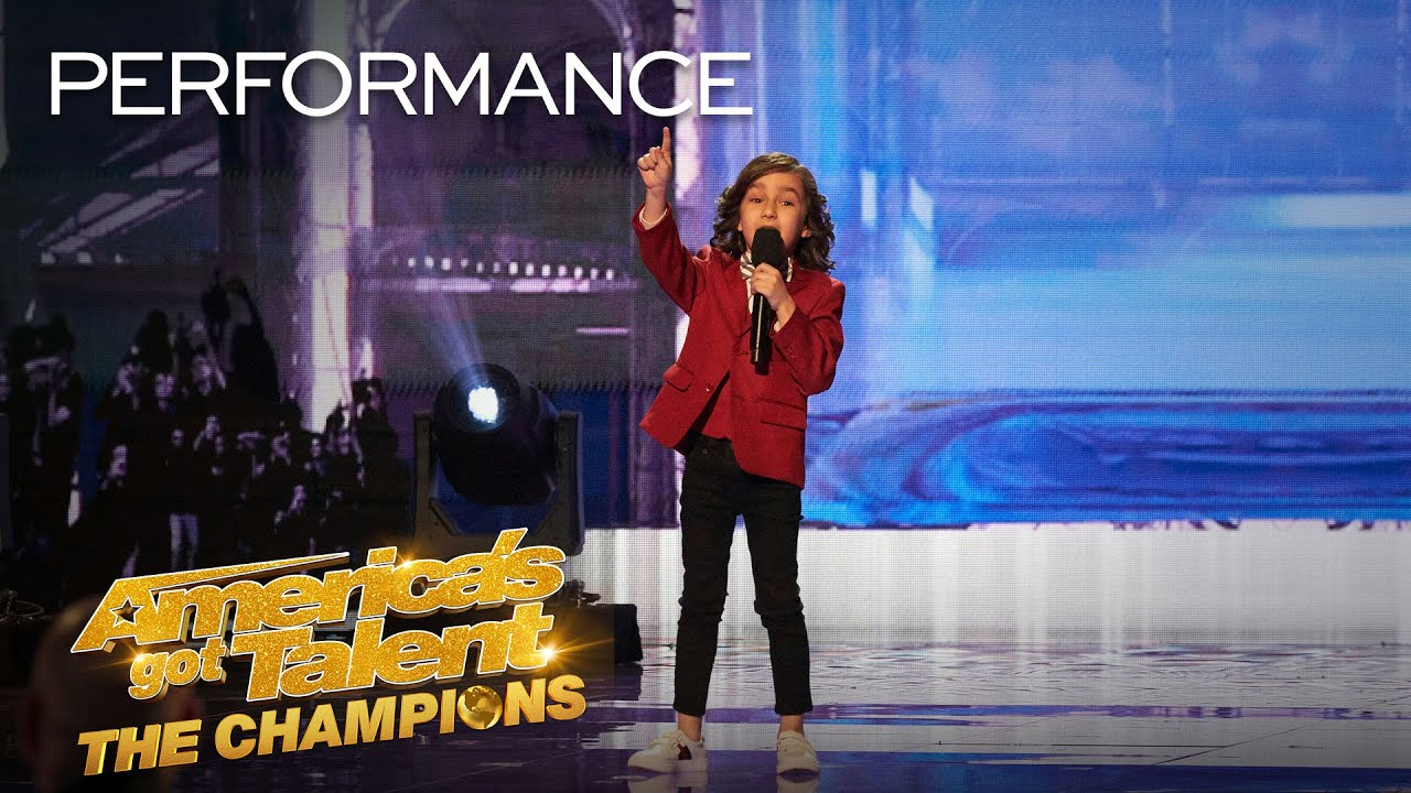 7-Year-Old JJ Pantano ROASTS Simon Cowell With Funny Insults! - America's Got Talent: The Champ