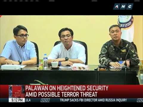 Palawan on heightened security amid possible terror threat