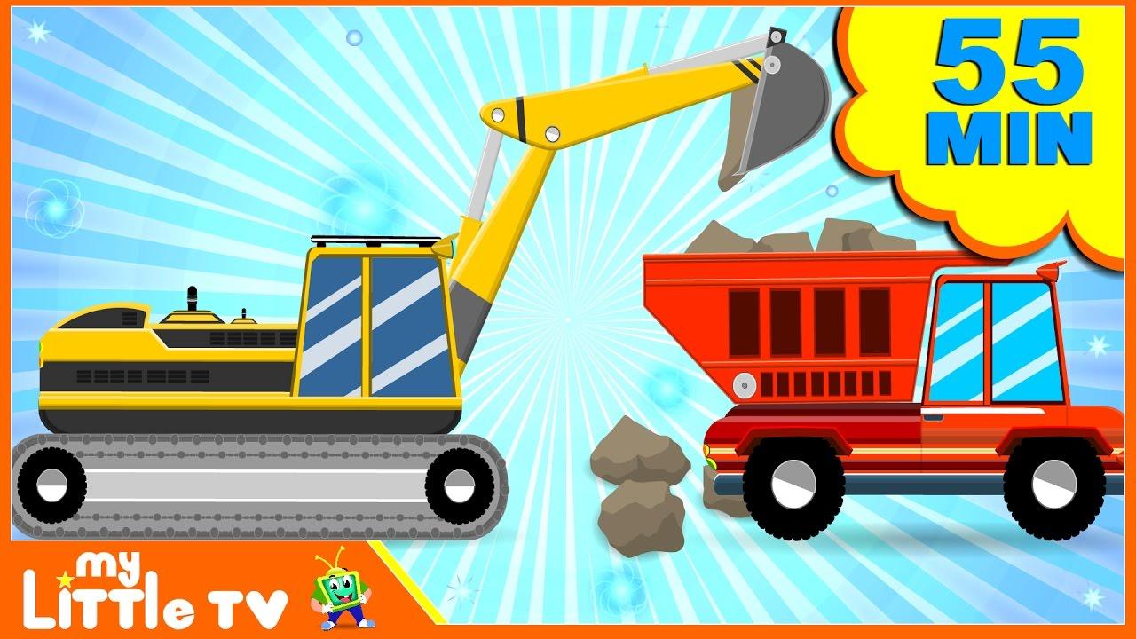 JCB Excavator | Digger Cartoons | Bulldozer | Dump Truck ...