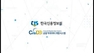 [한국신용정보원] 금융 빅데이터 개방시스템, CreDB…