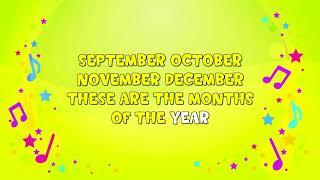 Months Of The Year | Karaoke | Nursery Rhyme | Learning Song