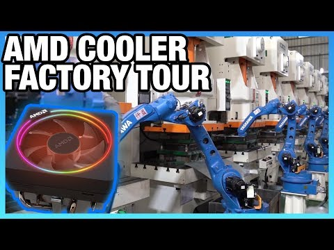 How an AMD Ryzen Cooler is Made | Factory Tour (Cooler Master)