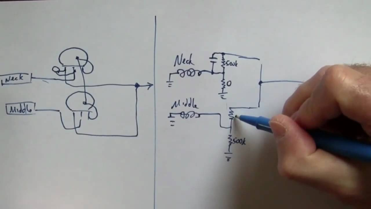 guitar treble bleed part 3 problem with 3 pickup 3 way switch circuit youtube [ 1280 x 720 Pixel ]