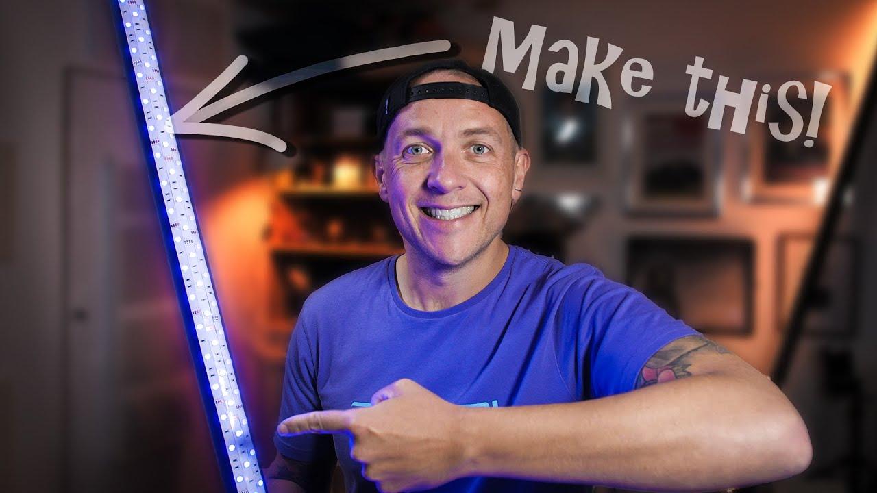 How to make an easy DIY light painting stick