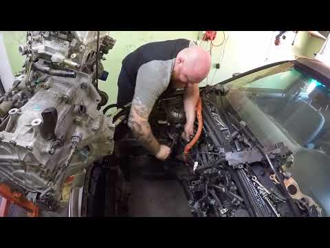 K24a2 TSX Engine swap into Civic Hybrid ES9 - Part 3 k24 goes in