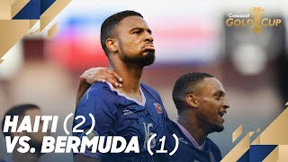 Haiti (2) Vs. Bermuda (1)   Gold Cup 2019
