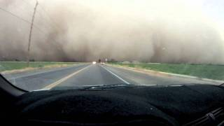 Driving into AZ Haboob Dust Storm HD