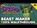 Spyro The Dragon PS4 - BEAST MAKER 100% Walkthrough All Collectibles (Gems, Dragons)