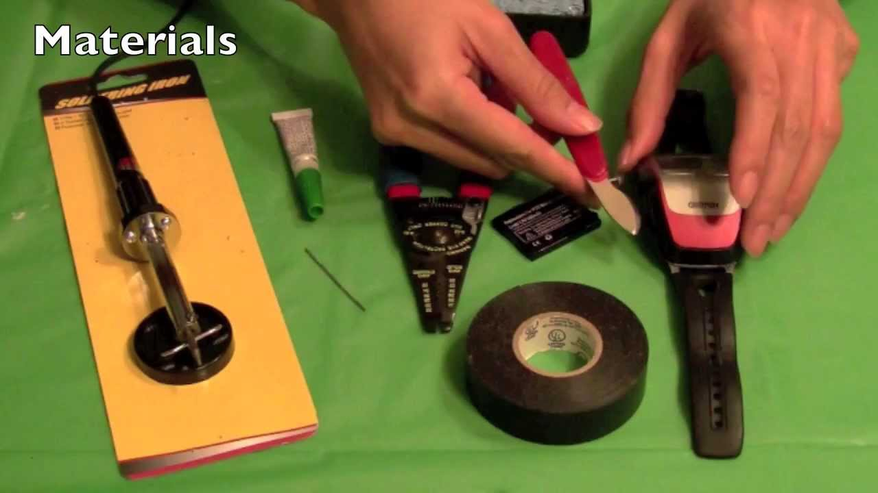 How To Replace The Battery In A Garmin Forerunner 305 Watch Youtube Fuel Wiring Diagram