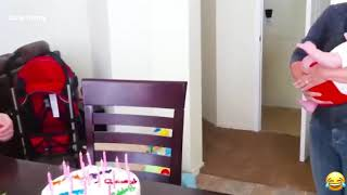 Funny Babies Blowing Candle Cute Funny