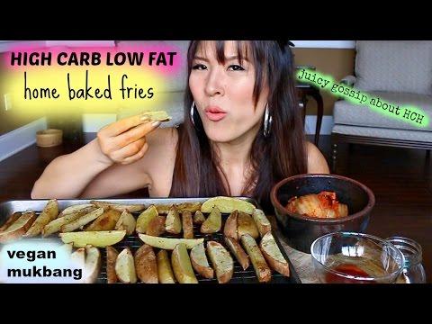 LOWFAT BAKED HOME FRIES • Mukbang & Recipe