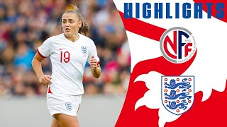 Norway 2-1 England | Georgia Stanway Scores a SCREAMER! | Official Highlights