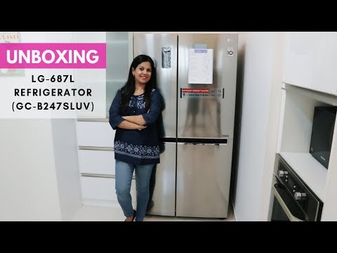 Unboxing of LG - 687 L Refrigerator | Features and Warranty