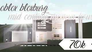 Roblox Bloxburg casa moderna de mediados de siglo