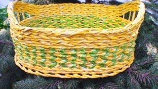 ▬► Плетение из газет узора