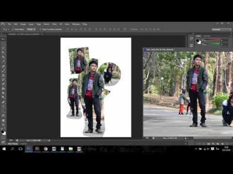 การตัดภาพให้เป็นรูปทรงต่างๆ  Photoshop CS6