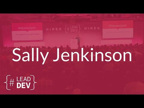 Making the Leap from Execution to Strategy – Sally Jenkinson | The Lead Developer UK 2017