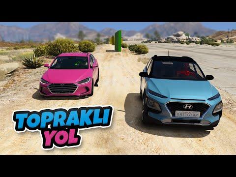 Hyundai Ailesi Arabalar Topraklı Yol Parkurundan Geçiyor - GTA 5
