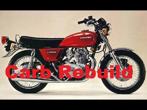 Kawasaki KZ 400 Carburetor -How To CLEAN, REBUILD Float Slide Seat Fuel Gas Throttle 16001-246 Carb