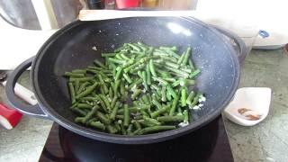 Индийская кухня: Жареная острая фасоль