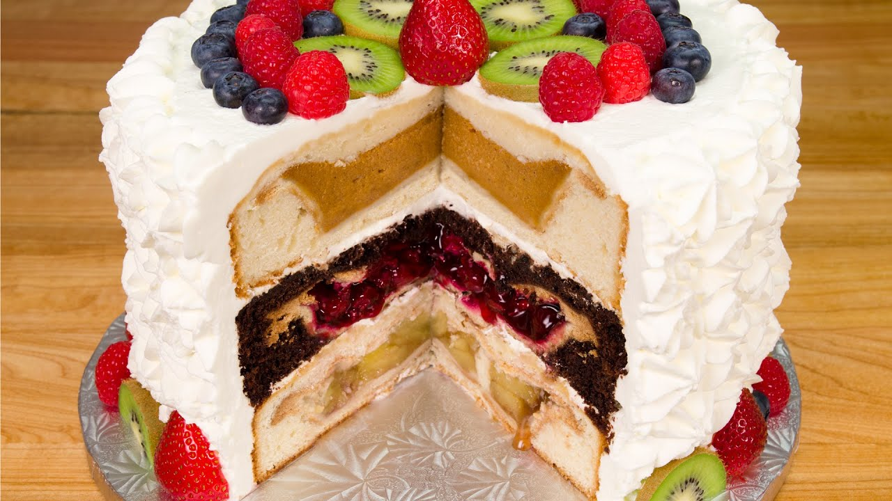 Layered Cookie Cake Recipes: Cherpumple: Triple Layer Pie In A Cake From Cookies