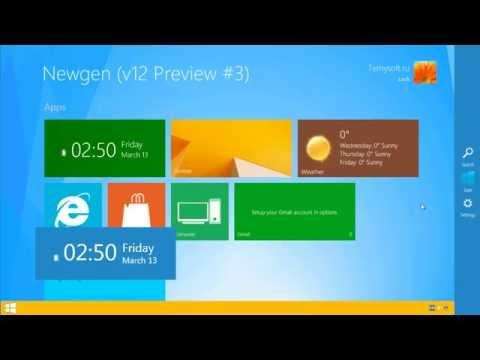 Тема для Windows XP в стиле оформления Windows 8.1