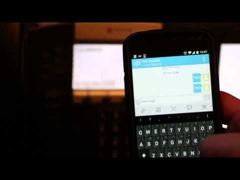 SMS to VoIP desk phone