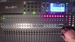 Qu24 stereo main mix through separate stereo mix output