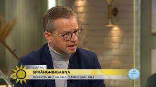 """Dambergs krafttag mot sprängdåden: """"Skärpta straff behövs och kommer"""" - Nyhetsmorgon (TV4)"""
