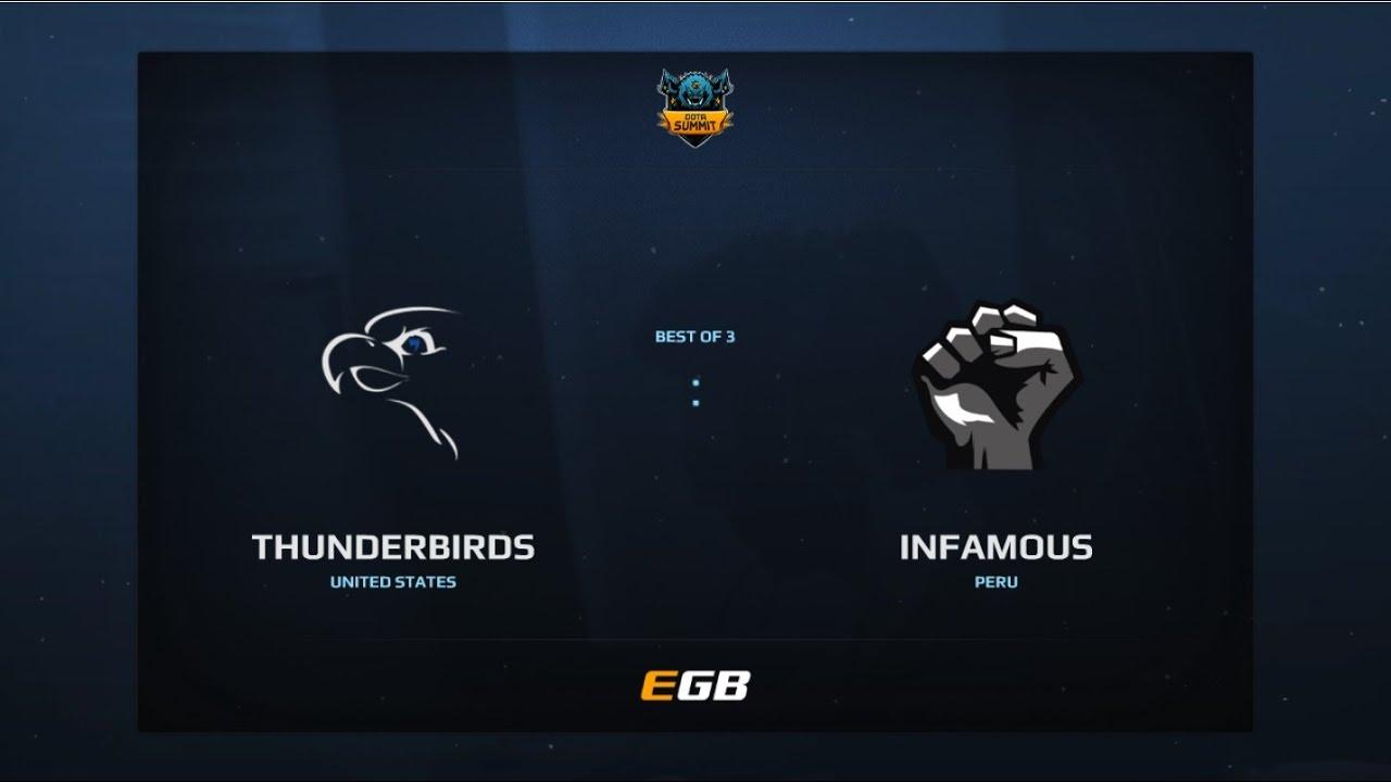 Thunderbirds vs Infamous, Game 1, Dota Summit 7, AM Qualifier