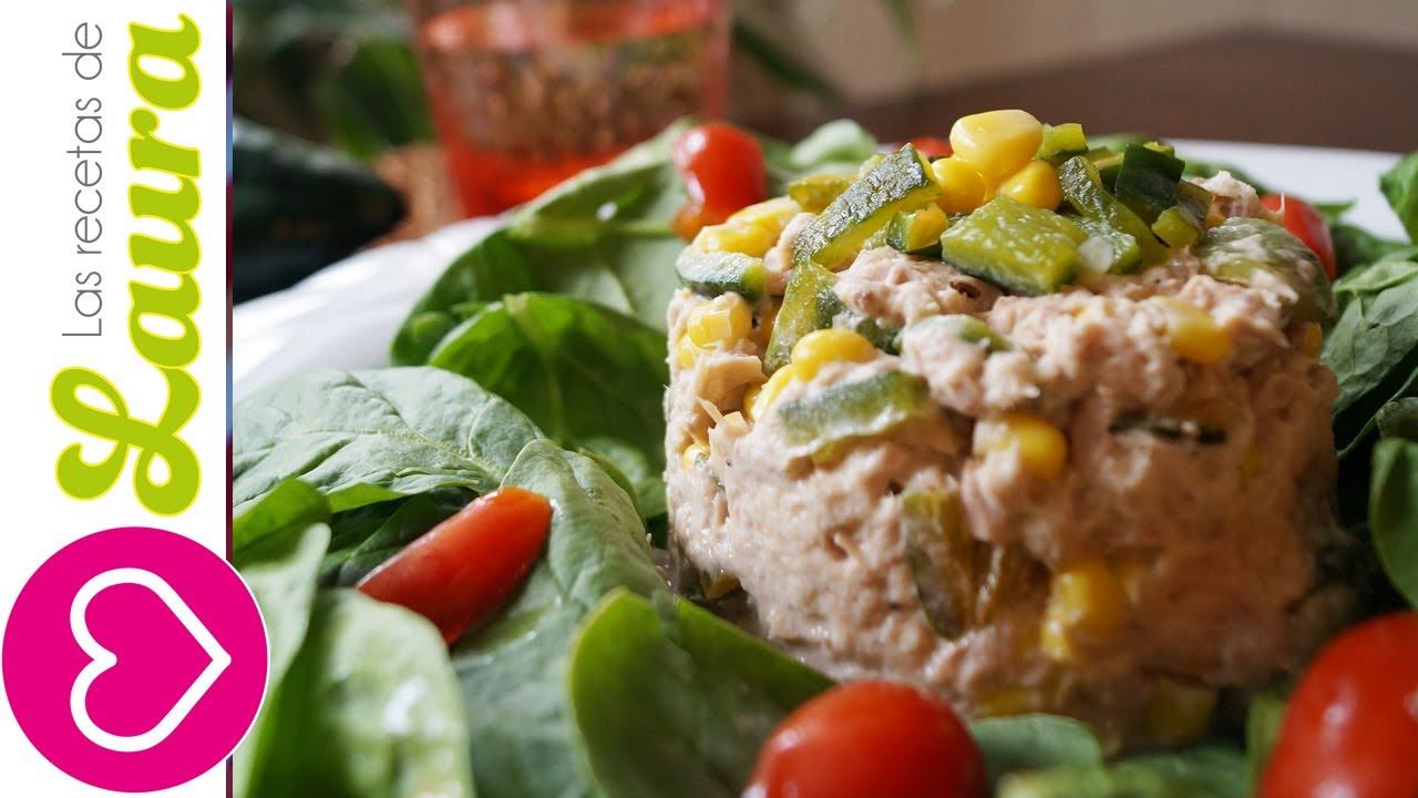 Ensalada atun facil y rapida con verduritas comida - Comidas deliciosas y saludables ...
