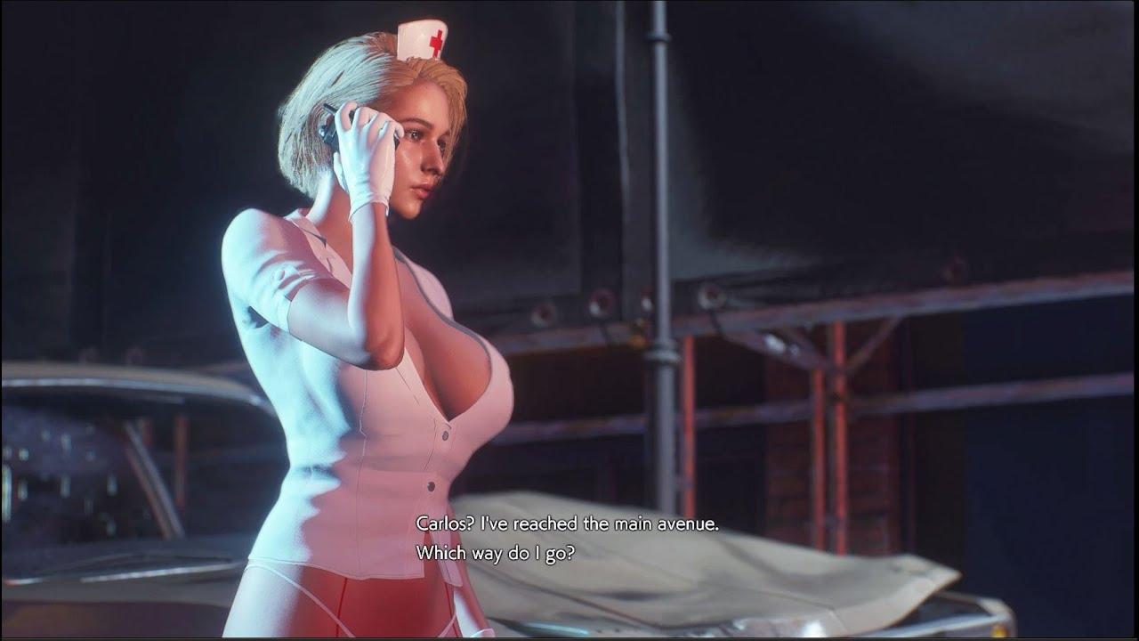 Resident Evil 3 Remake Jill Nurse with Jiggle Physics Gameplay PC Mod