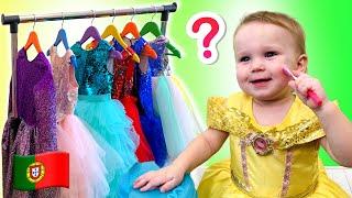 Stefy se veste e quer ser bonita. Videos divertido para crianças.