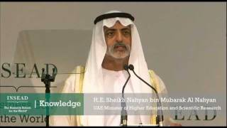 H.E. Sheikh Nahyan bin Mubarak Al Nahyan at the INSEAD Leadership Summit Middle East 2012