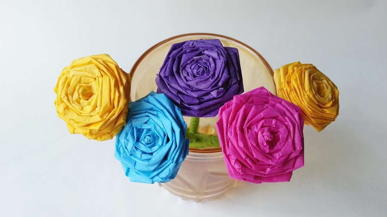 How to make a beautiful tissue paper rose diy crafts tutorial how to make a beautiful tissue paper rose diy crafts tutorial guidecentral youtube mightylinksfo Gallery