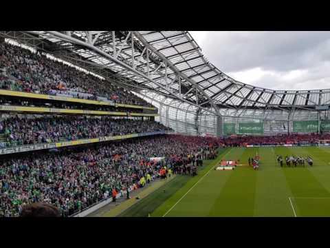 Irish National Anthem, Amhran Na bhFiann, June 2017 World Cup Qualifier, Ireland V Austria @  Aviva
