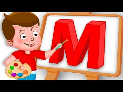 Drawing Alphabet M Letter coloring painting for kids Kids Drawing TV