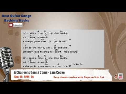 A Change Is Gonna Come - Sam Cooke Vocal Backing Track with chords and lyrics