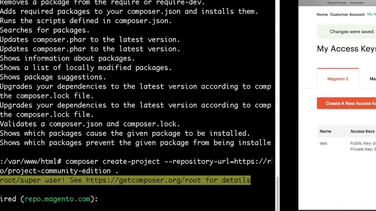 Magento 2 on Digital Ocean using Composer - Ubuntu 16 04 (Part-2, Database  and Magento)