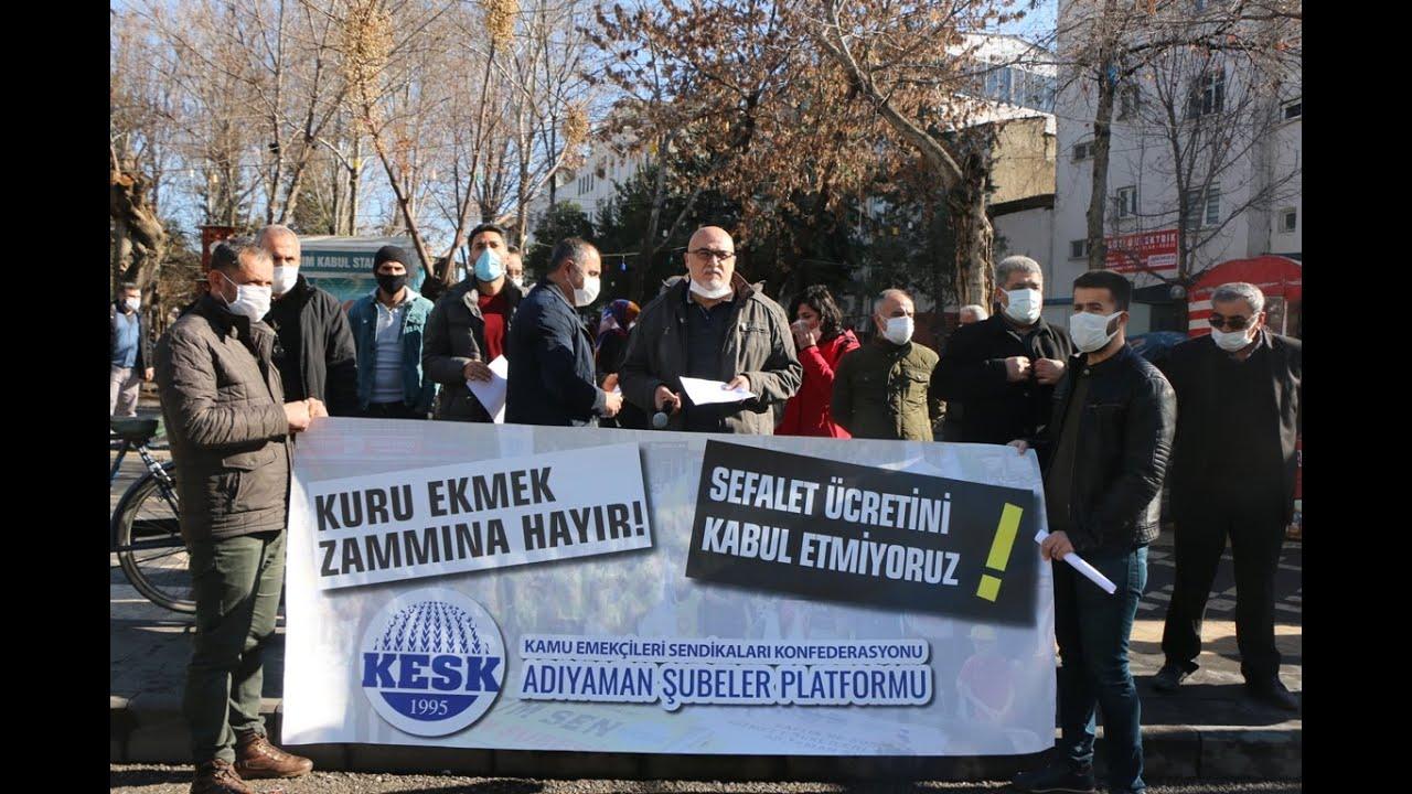 Eğitim Sen Adıyaman Şube Başkanı Abdullah Demir 'İnsanca yaşamaya yetecek bir ücret istiyoruz'